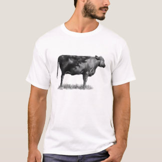 Heifer, Cow: Hand Drawn in Pencil: Realism T-Shirt