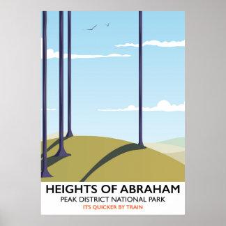 Heights of Abraham Peak District Rail poster