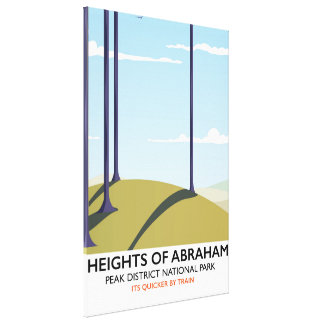Heights of Abraham Peak District Rail poster Canvas Print