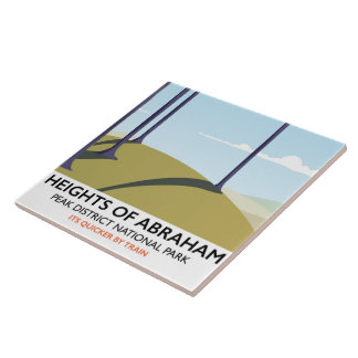Heights of Abraham Peak District Rail poster Ceramic Tile