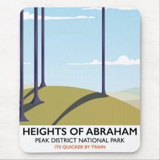 Heights of Abraham Peak District Rail poster Mouse Pad
