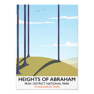 Heights of Abraham Peak District Rail poster Photograph