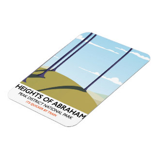Heights of Abraham Peak District Rail poster Rectangular Photo Magnet