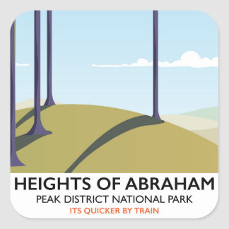 Heights of Abraham Peak District Rail poster Square Sticker