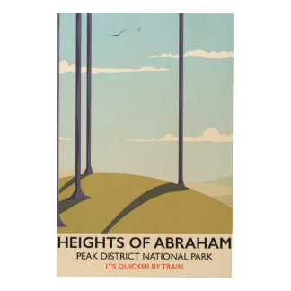 Heights of Abraham Peak District Rail poster Wood Canvases