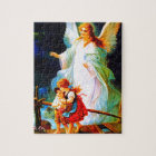 Heiliger Schutzengel  Guardian Angel and Children Jigsaw Puzzle