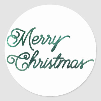 heim&lore Merry Christmas Evergreen Classic Round Sticker