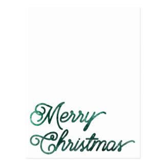 heim&lore Merry Christmas Evergreen Postcard