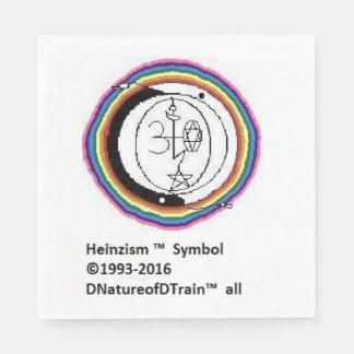 Heinzism logo napkins