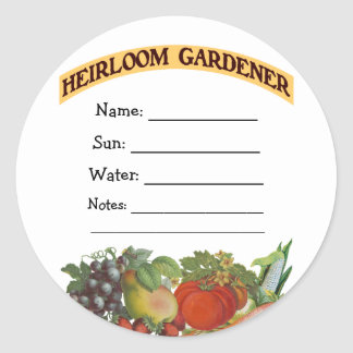 Heirloom Gardener Custom Seed Packet Stickers