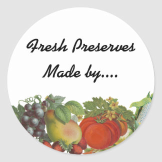 Heirloom Gardens Custom Seed or Canning Labels Round Sticker