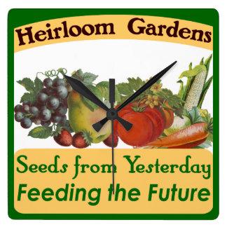 Heirloom Gardens Retro Kitchen Wall Clock