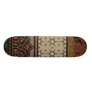 Heirloom Textile with Decorative Patterns Skate Board Decks