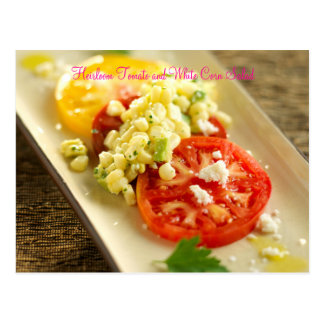 Heirloom Tomato and White Corn Salad Postcard
