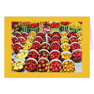 Heirloom Tomatoes at Jean Talon Market, Montreal Greeting Card