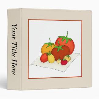 Heirloom Tomatoes Vinyl Binder