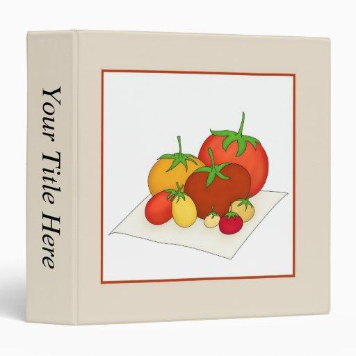 Heirloom Tomatoes 3 Ring Binders