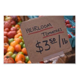 Heirloom Tomatoes Greenmarket New York Photography Photo Print