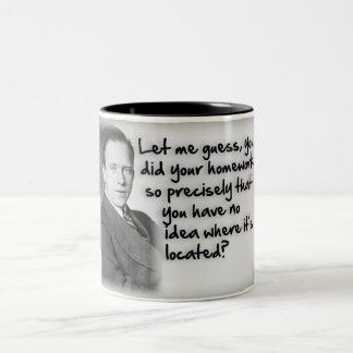 Heisenberg's Homework Uncertainty Two-Tone Coffee Mug