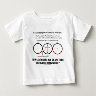 Heisenberg's Uncertainty Principle Physics Humor Baby T-Shirt