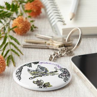 Hekela's Crafts Butterfly Keychain