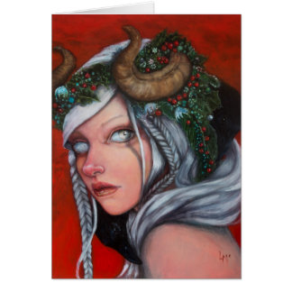 Hel Mother of Krampus note card by Laurie McClave