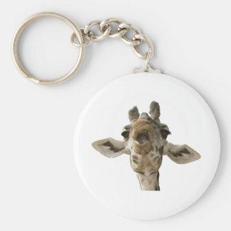 Helaine's Goofy Giraffe Basic Round Button Keychain