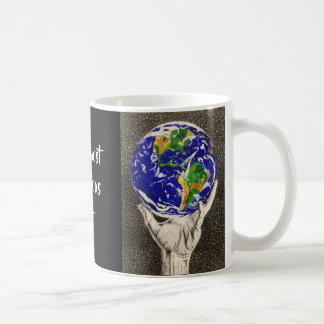 Held Earth 'our most precious gift ' mug