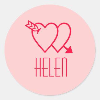 Helen Classic Round Sticker