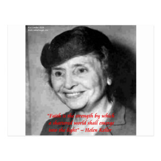 "Helen Keller ""Faith/Stength"" Wisdom Quote Postcard"