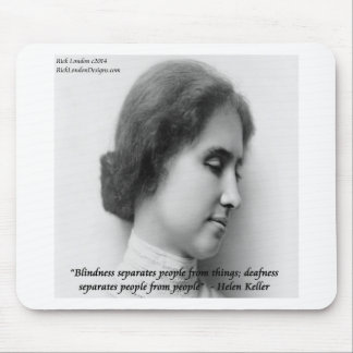 Helen Keller & Famous Deaf/Blind Quote Mouse Pad