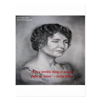 Helen Keller Having Vision Wisdom Quote Postcard
