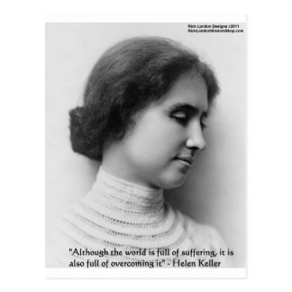 """Helen Keller """"Obstacles"""" Wisdom Quote Gifts & Card"""