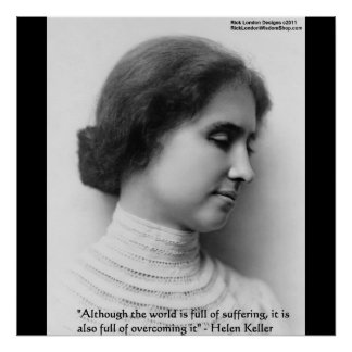 """Helen Keller """"Obstacles"""" Wisdom Quote Posters"""