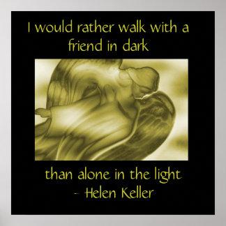 Helen Keller Quote - Angel Poster