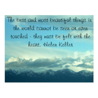Helen Keller Quote Montana Sky Postcard