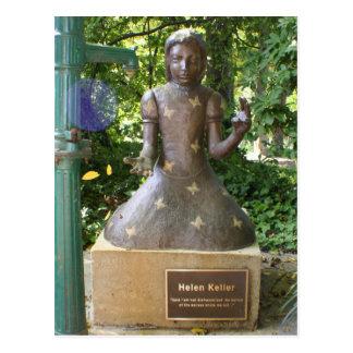 Helen Keller Statue Postcard