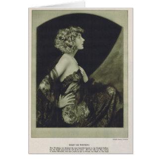 Helen Lee Worthing 1925 vintage portrait card
