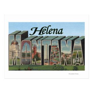 Helena, Montana - Large Letter Scenes Postcard