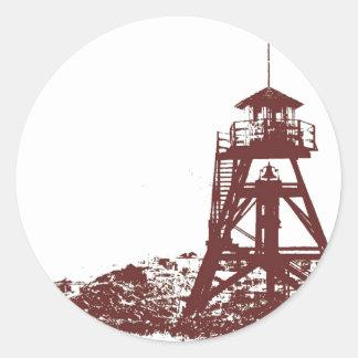 Helena MT Firetower Round Sticker