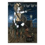 """Helena"" Sky Pirate Ship Moon Fae Card"