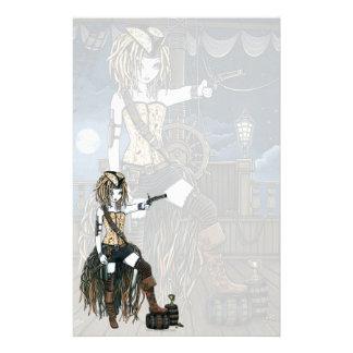"""""""Helena"""" Sky Pirate Ship Moon Fae Stationery"""