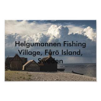 Helgumannen Fishing Village, Fårö Island, Sweden Photo Print