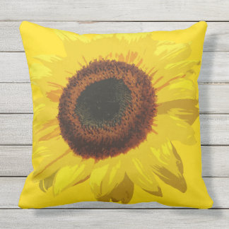 Helianthus annuus - Outdoor Pillow