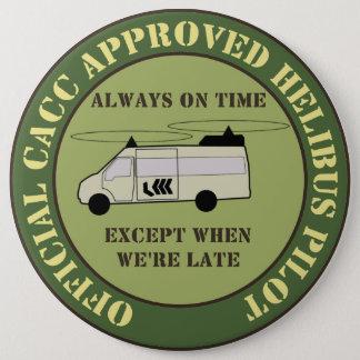 Helibus badge 6 inch round button