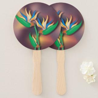Heliconia Bouquet Hand Fan