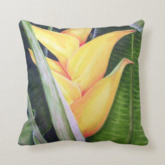 Heliconia Caribea Throw Pillow