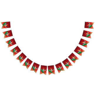 Heliconia Flower Bunting Flags