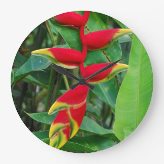 Heliconia Large Clock