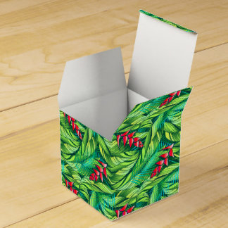 Heliconia tropical floral favor box